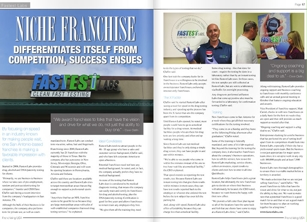 Franchising USA Magazine June 2016 Issue Fastest Labs Article