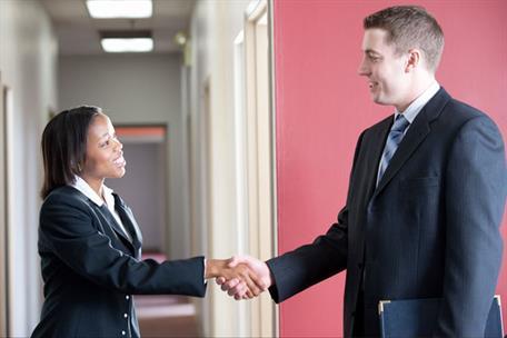 Employer Shaking Hands